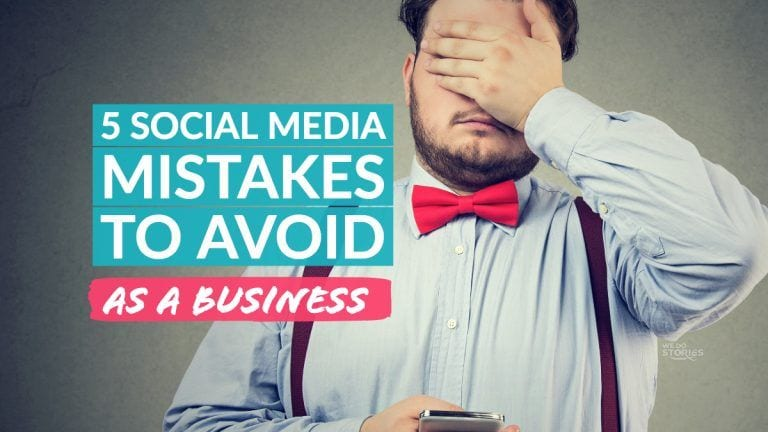 5 SOCIAL MEDIA MISTAKES TO AVOID
