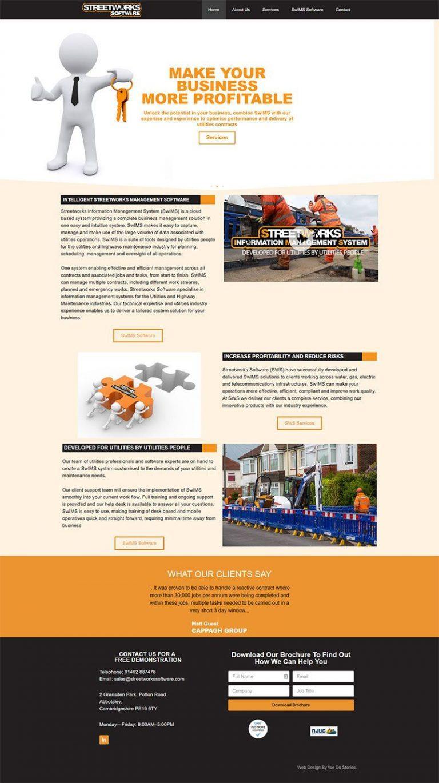 Website Design Streetworks Software